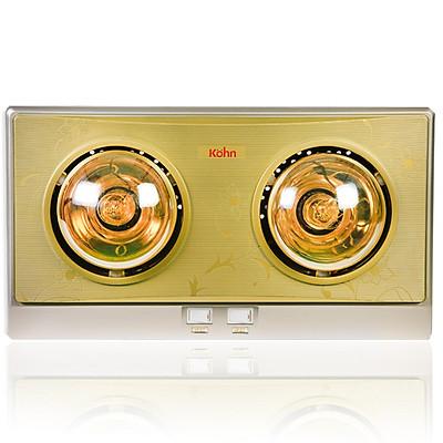 Đèn sưởi nhà tắm 2 bóng Braun Kohn KN02G - Hàng Chính Hãng