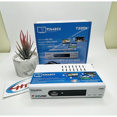 Combo đầu thu vinabox t220s , anten ,dây 15m ,dây nguồn DC 5V chính hãng