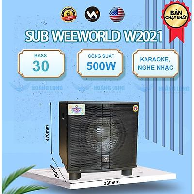 Loa sub điện W2021 + Bass 30 - Hàng chính hãng Weeworld