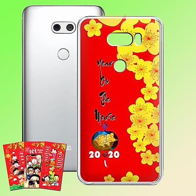 Ốp lưng điện thoại LG V30 - 01253 7990 HOAMAI03 - Tặng bao lì xì Chúc Mừng Năm Mới - Silicon dẻo - Hàng Chính Hãng