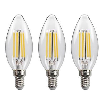Bộ 3 bóng đèn Led Edison C35 4W hình quả nhót đui E14