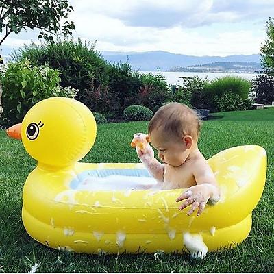 Bể Bơi,Chậu Tắm Phao Hình Con Vịt Vàng Ngộ Nghĩnh