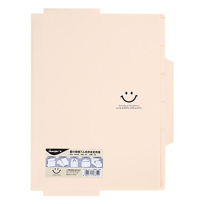 Bìa Mỏng 7 Ngăn Guangbo A 9035 - Vàng