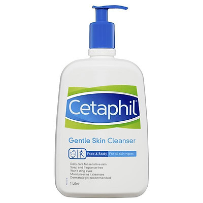 Sữa rửa mặt Cetaphil Gentle Skin Cleanser 1L Pump Pack ngăn ngừa mụn Nhập Khẩu Úc