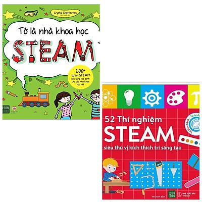 Combo sách thiếu nhi: Tớ là nhà khoa học STEAM + 52 Thí Nghiệm Steam Siêu Thú Vị Kích Thích Trí Sáng Tạo