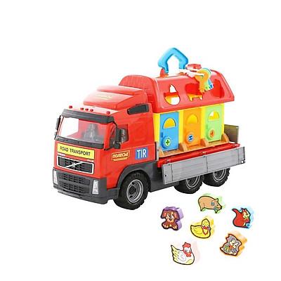 Xe tải Volvo chở ngôi nhà thú cưng đồ chơi - Polesie Toys