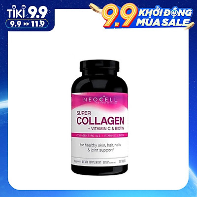Thực phẩm chức năng Viên uống bổ sung Collagen NeoCell Super Collagen +C và Biotin (360 Viên)