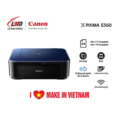 Máy in phun đa chức năng Canon E560- Hàng chính hãng