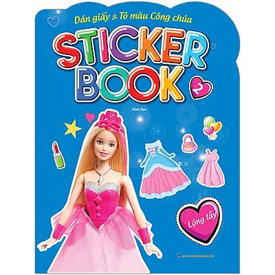 Sticker Book - Giấy Dán & Tô Màu Công Chúa 2 - Lộng Lẫy (Tặng Kèm 4 Trang Sticker Dán Hình)
