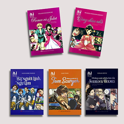 Truyện Tranh Manga Cho Bé - Bộ 5 Quyển (TTV)