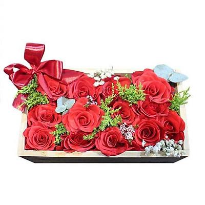 Hộp hoa tươi - Gói Trọn Chân Tình 3606