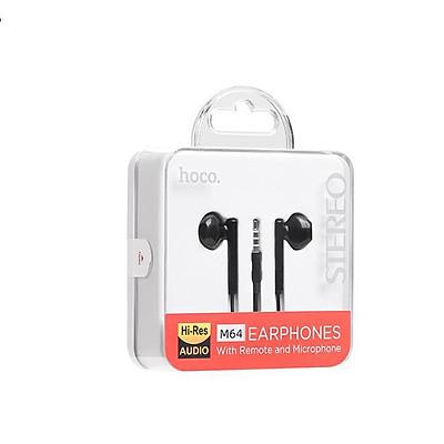 Tai nghe nhét tai Hoco M64 Melodious jack kết nối 3.5, âm thanh tuyệt vời - HÀNG NHẬP KHẨU