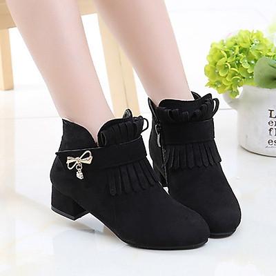 Boot bé gái 3 - 12 tuổi cao gót thời trang phong cách Hàn Quốc GC51