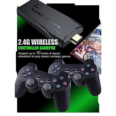 Máy chơi game điện tử 4 nút tay cầm không dây GAME STICK 4K ULTRA_HD Joystick 360 - 2 người chơi - kết nối TV 4K - Thẻ SD 32G +3000 games -Game console thiết bị game mượt ( HDMI ) - Tặng cáp chuyển HDMI
