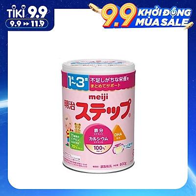 Sữa bột công thức Meiji Step Milk cho bé 1 đến 3 tuổi (800g) - Nhập khẩu Nhật