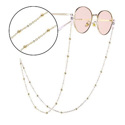 Woman Fashion Round Beaded Anti-slip Eyeglasses Chain