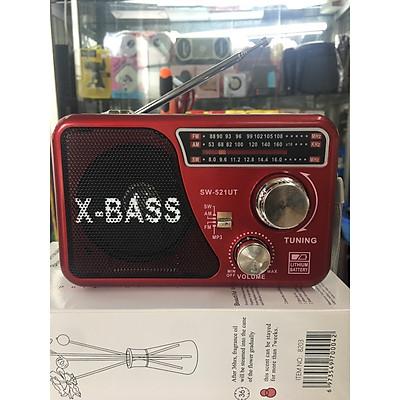 Đài di động FM phát sóng , khe cắm thẻ nhớ,cắm USB SW-571 có đèn pin