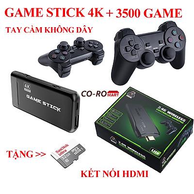 Máy chơi game cầm tay 4 nút Game stick 4k HDMI PS3000 kết nối không dây 3500 trò chơi