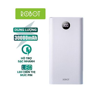 Pin Sạc Dự Phòng 30000mAh ROBOT RT30 Sạc Nhanh PD/QC 3.0 22.5W 5A - 2 Input & 3 Output- Hàng chính hãng