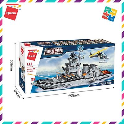 Bộ Đồ Chơi Xếp Hình Thông Minh Lego Quân Sự Qman Tàu Chiến Hạm 112 Cho Trẻ Từ 6 Tuổi 910 Chi Tiết