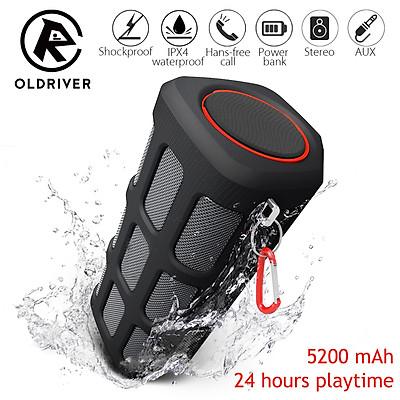 Portable Outdoor Waterproof Wireless Bluetooth Speaker Power Bank Bass Subwoofer