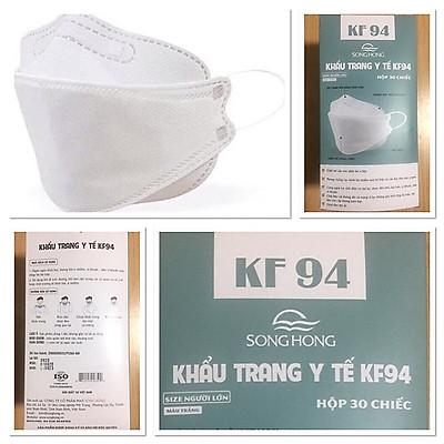 Combo 3 hộp khẩu trang y tế KF94 của may Sông Hồng