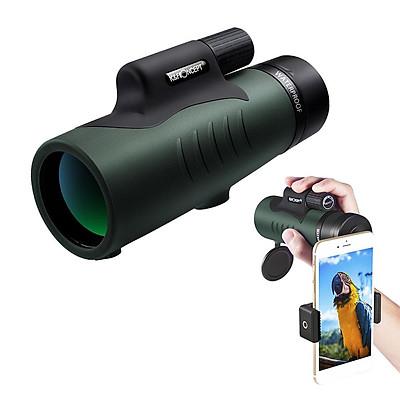 K&F CONCEPT 12X50 Single-tube HD Monocular Telescope FMC Optical Lens BAK4 Prisms 10M Waterproof with Phone Holder Carry