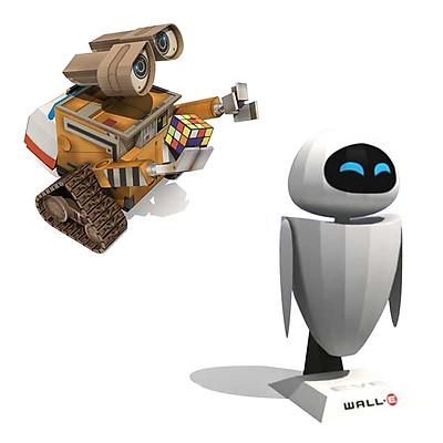 Mô hình giấy cắt dán thủ công Robot Wall-E & Eve Combo 0026