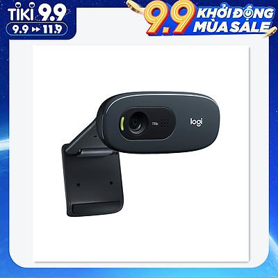 Webcam Màn Hình Rộng Gắn Laptop PC Logitech C270 (HD 720p)  - Đen