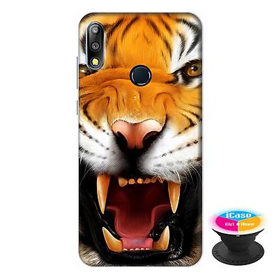 Ốp lưng điện thoại Asus Zenfone Max Pro M2 hình Hổ Dữ Gầm  Rú tặng kèm giá đỡ điện thoại iCase xinh xắn - Hàng chính hãng