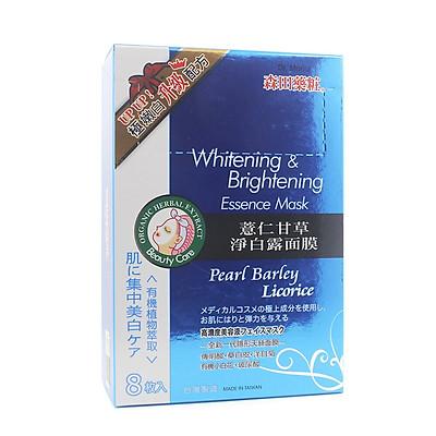 Hộp 8 miếng Dr Morita Đài Loan - Mặt nạ trắng da Whitening & Brightening