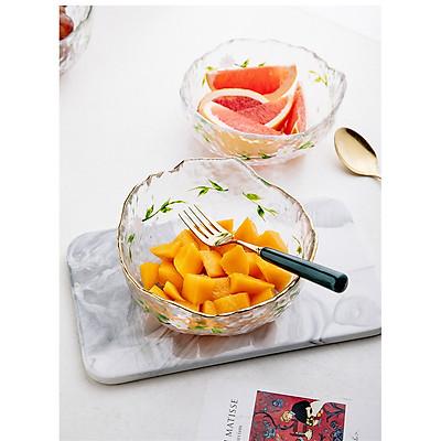 Tô Salad Thủy Tinh Viền Vàng