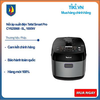 Nồi áp suất điện Tefal Smart Pro CY625868 - 5L, 1000W - Hàng Chính Hãng