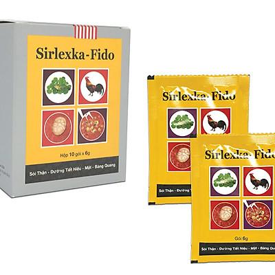 Thực phẩm chức năng hỗ trợ cho bệnh Sỏi Thận - Đường Tiết Niệu, Mật, Bàng Quang SIRLEXKA - FIDO (Cốm) (Hộp 10 gói x 6g)