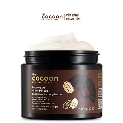 Bơ Dưỡng Thể Cà Phê Đắk Lắk Cocoon 200ml