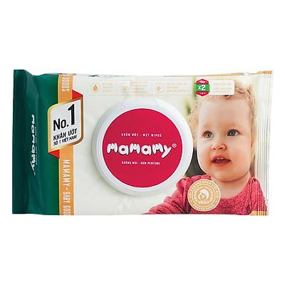Khăn Giấy Ướt Không Mùi Kháng Khuẩn An Toàn Cho Bé Mamamy Mm0334 (100 Tờ) - Xanh