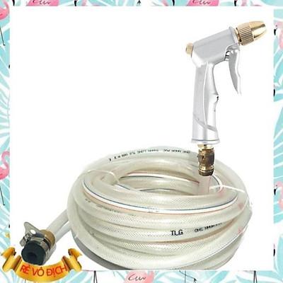 ️️ Bộ dây và vòi xịt nước tăng áp lực nước 300% loại 10m (vòi bạc-dây trắng) 206710206710206713-1206498-1