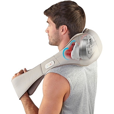 Đai massage USA vai cổ gáy chuyên nghiệp ( 4 bi xoay kèm rung và nhiệt ) HoMedics NMS-620H nhập khẩu USA