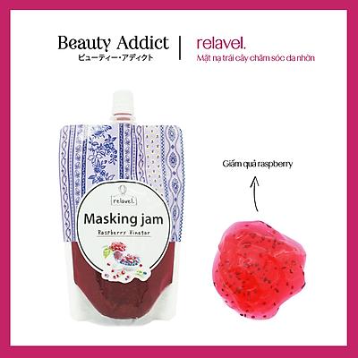 Mặt Nạ Nhật Bản relavel. Raspberry Vinegar, Dành Cho Da Mất Ẩm Và Tiết Nhiều Bã Nhờn, Dưỡng Ẩm, Làm Sạch, Kháng Khuẩn Gây Mụn Nhờ Dầu Vỏ Chanh Và Tinh Chất Tràm, Nhiều Tinh Chất, Collagen, HA