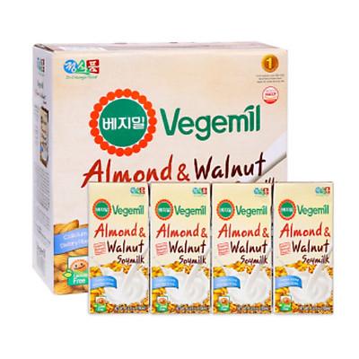 Lốc 16 hộp Sữa đậu nành, hạnh nhân và óc chó Vegemil 190ml