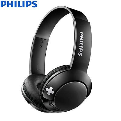 Philips (PHILIPS) Bluetooth headset wire bass Bass + SHB3075 (black)