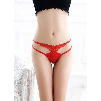 Quần lót ren hoa lọt khe thời trang nữ tính - Đỏ