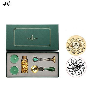 Hộp đóng dấu phong cách hoàng gia cổ điển với niêm phong từ hạt sáp nến - Set Quà tặng hoặc tự làm Scrapbooking