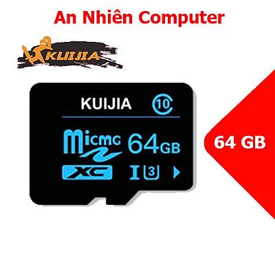 Thẻ Nhớ Micro SD KUIJIA 64Gb U3 Class 10 Tiêu Chuẩn Chuyên Dụng Cho CAMERA, Điện thoại, Máy Ảnh,... Tốc Độ Cao 95Mb-140Mb/s, Đáp Ứng Được Video Full HD