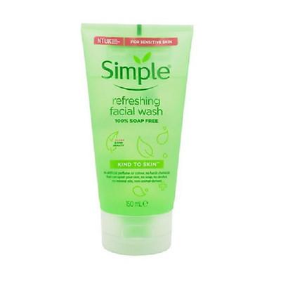 [MẪU MỚI] Sữa Rửa Mặt Dạng Gel Simple Refreshing (150ml) -