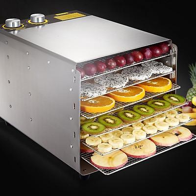 Máy sấy khô thực phẩm mini 6 khay chất liệu bằng inox