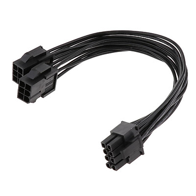 6 Pin to 8 Pin PCI Express Graphics Card Power Cable Port Multiplier