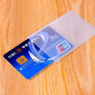 Combo 5 Túi Ví Đựng Bảo Vệ Chống Xước Thẻ ATM, Card Visit, Driver License Bằng Lái Xe Trong Suốt Hiệu Hier