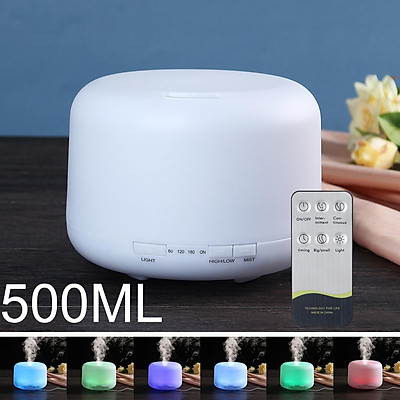 6 LED Colour Changing Ultrasonic Humidifier Air Purifier w/ Remote Control 500ML