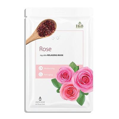 Mặt Nạ Dưỡng Ẩm Làm Trẻ Hóa Da HNB - Chiết Xuất Từ Hoa Hồng Tự Nhiên ( My Skin Relaxing Mask Rose )